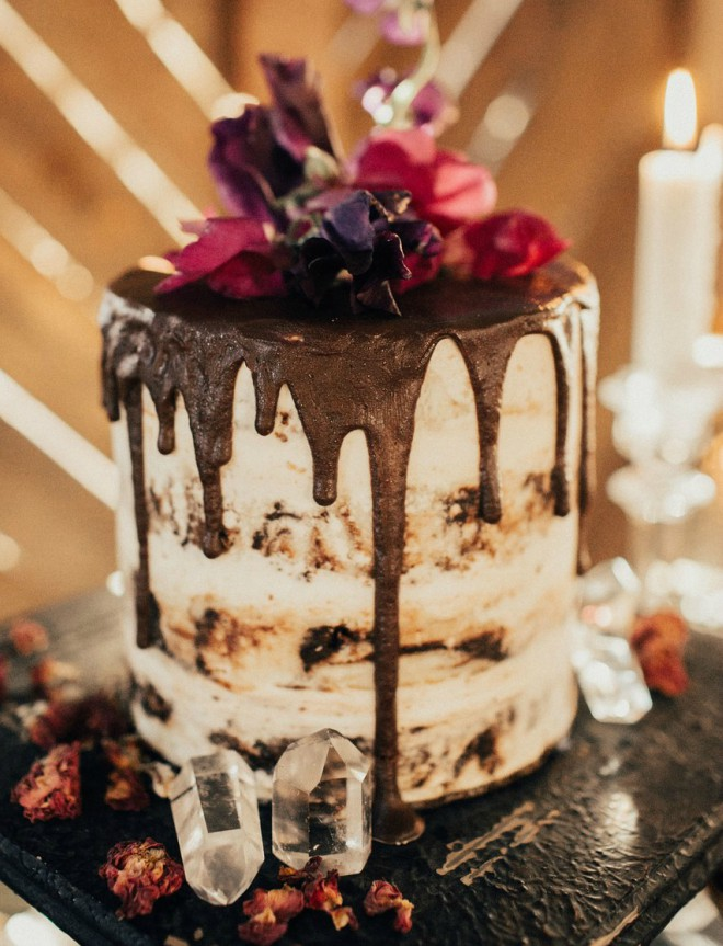 Layered Chocolate Drip Cake