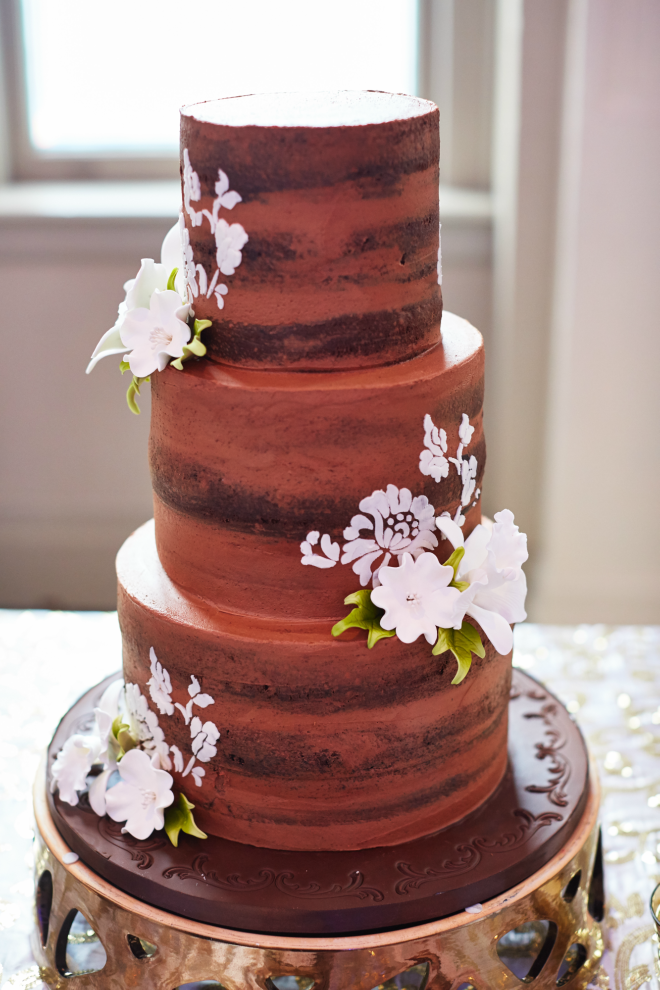 Chocolate Three-Tier Cake from Cakes by Gina