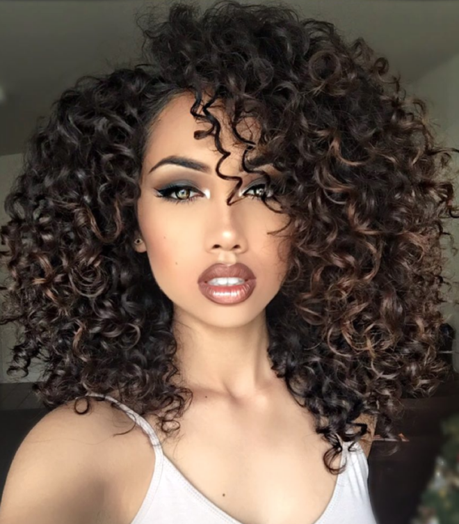 Medium Curly Hair Style