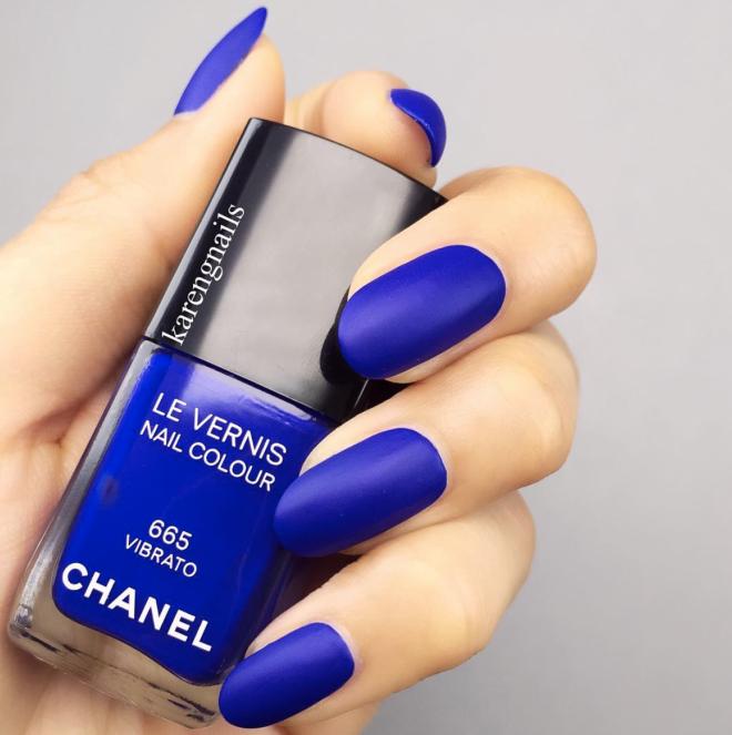 Blue Matte Manicure