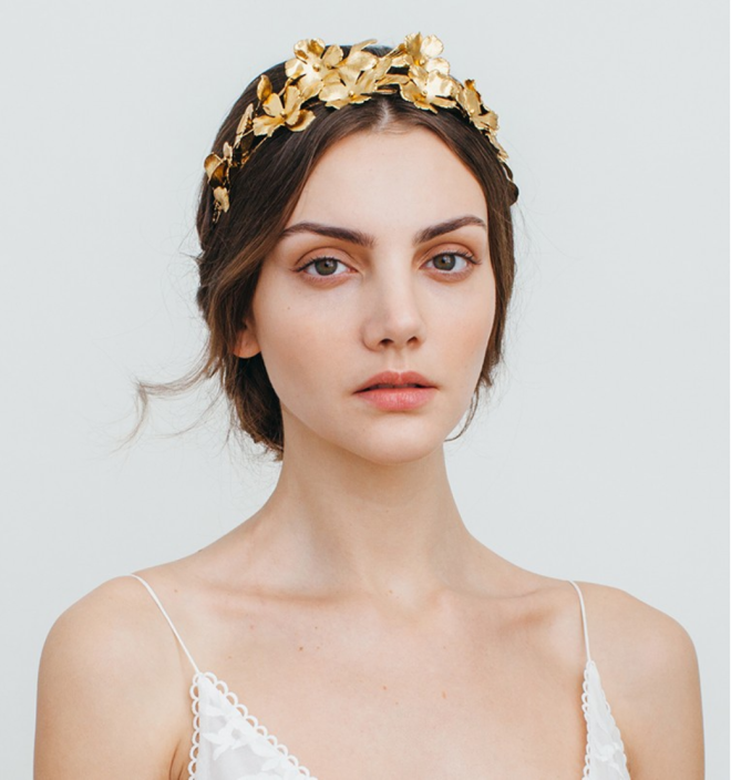 Jennifer Behr Golden Flower Crown