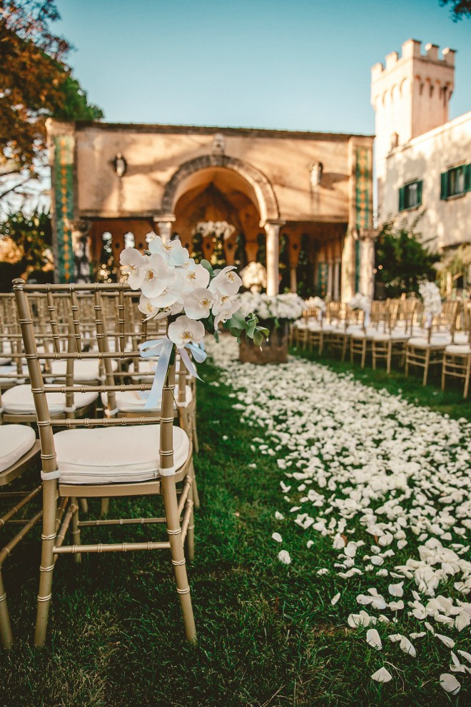 Destination Wedding Flower walkway