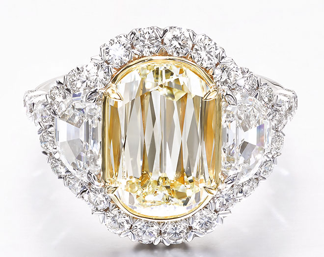 L'Amour Olivia Collection Yellow Diamond Engagement Ring