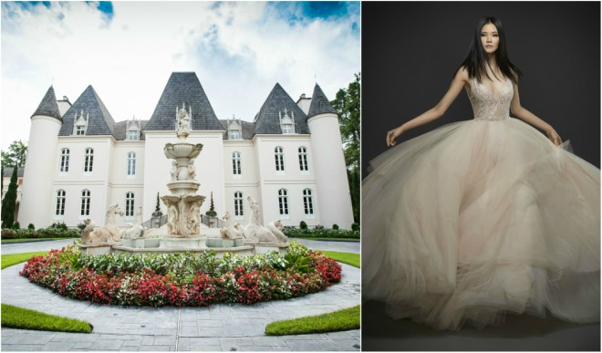 Chateau Cocomar and Lazaro Gown