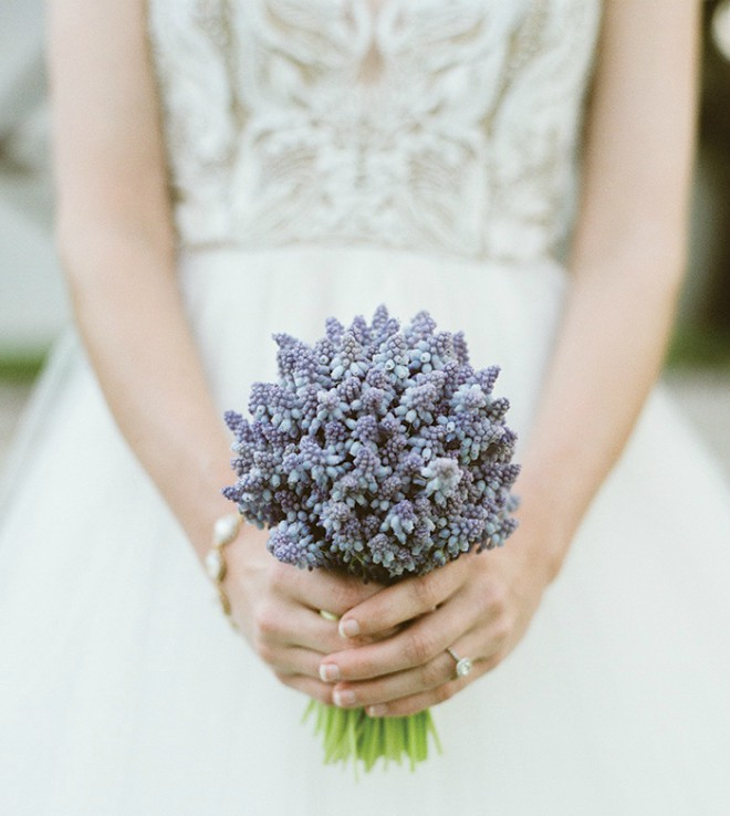 Glenwood Weber Design Blue Hyacinth Bridal Bouquet