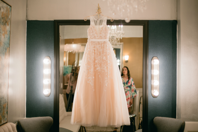 BHLD Millenial Pink Wedding Gown, Hughes Manor