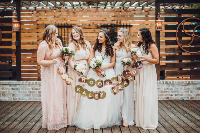 bridesmaids, bridal party shot