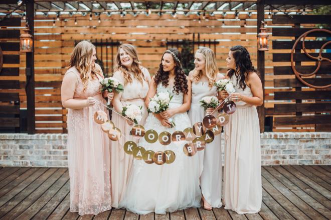 bridesmaids, bridal party shot