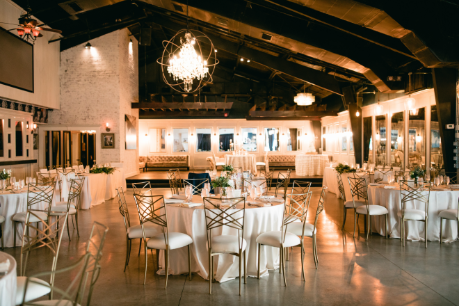 wedding reception decor, blush and gold, Hughes Manor