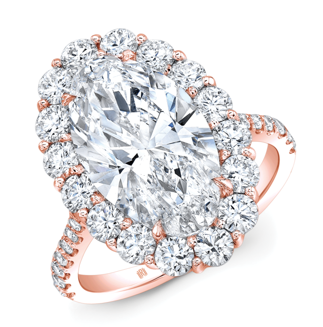Rahaminov Diamond & Rose Gold engagement ring