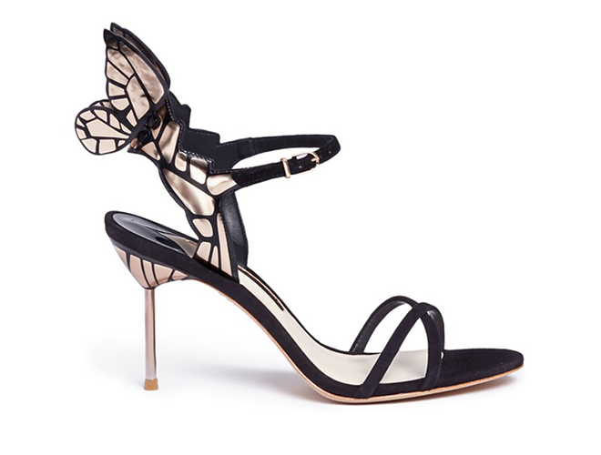 Sophia Webster Chiara butterfly-wing suede sandals