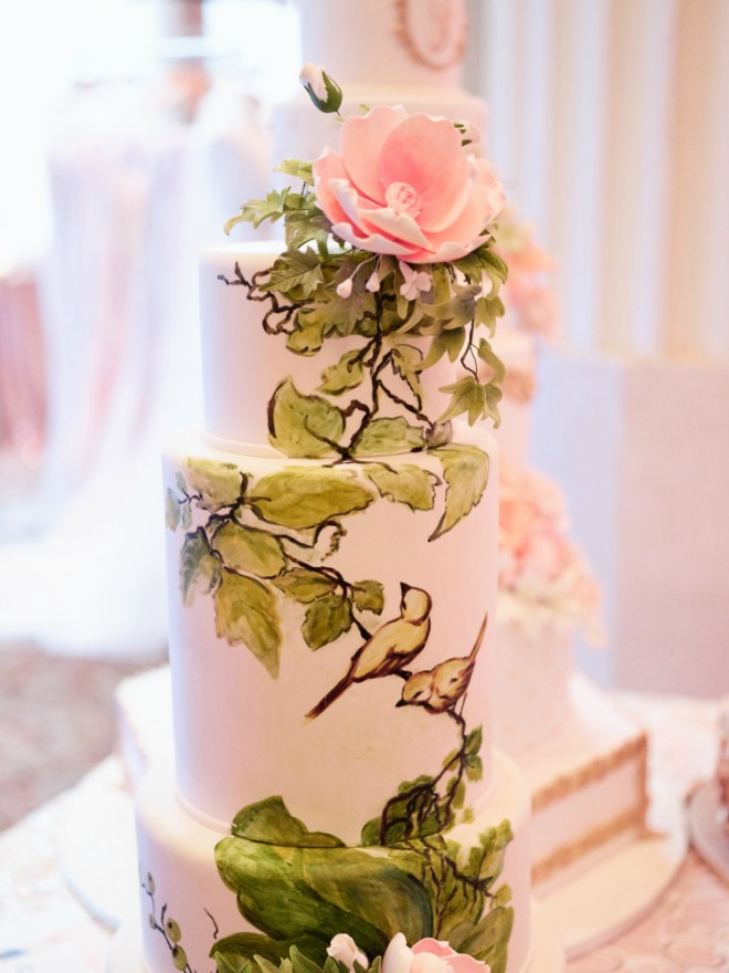 Top Houston Wedding Cake Baker Cakes By Gina Hand Painted