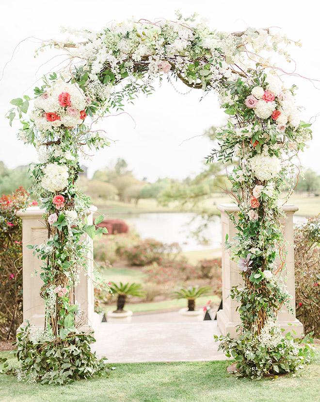 Wedding Floral Arch, Ceremony Decor, Florists Near Me