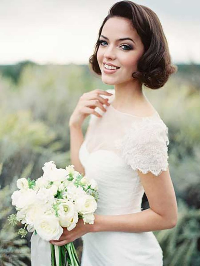 Wedding Hairstyles, Short Hair, Bob