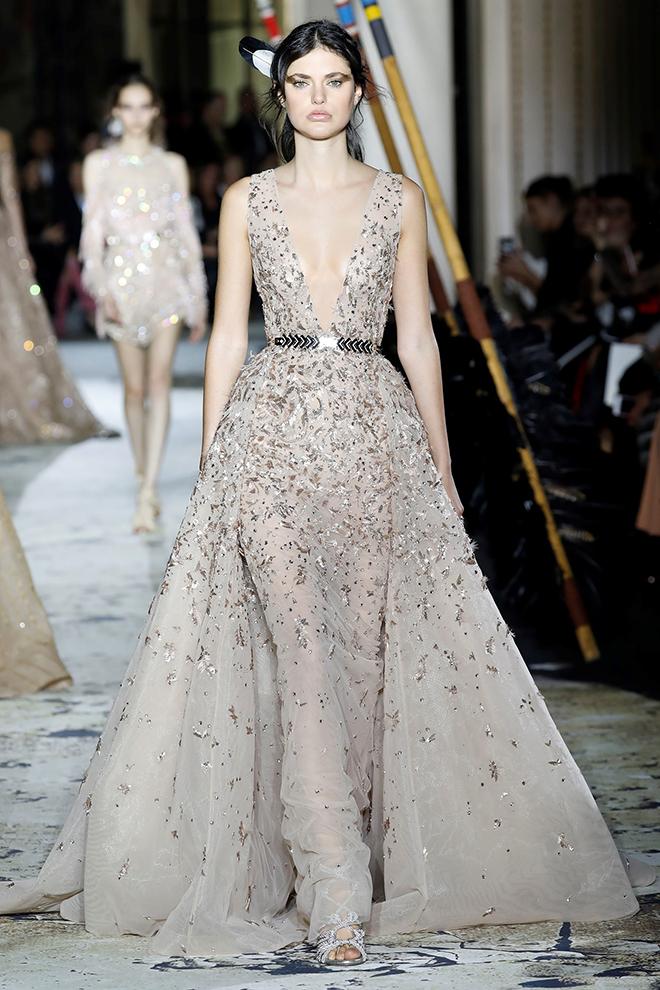 Wedding Dress, Non-White, Designer Gown, Bridal Fashion, Champagne Wedding Gown, Zuhair Murad, Deisgner Dress, Alternative to White Dress