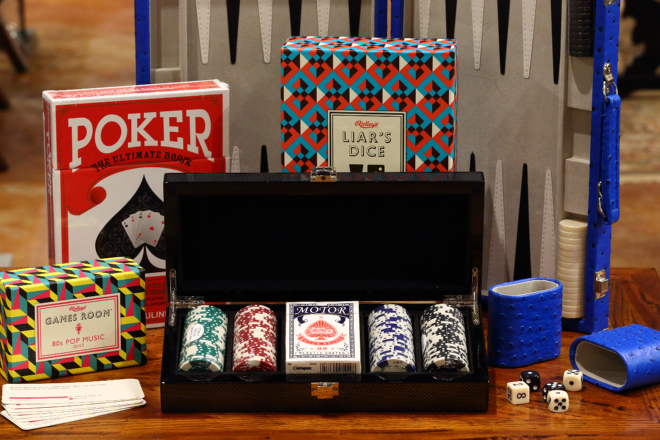 Father's Day Gifts Games Poker Cards Dice Bering's Houston