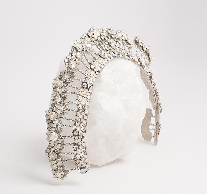 Maria Elena, Crystal Encrusted Tiara, 2019 Collection, bridal headpieces