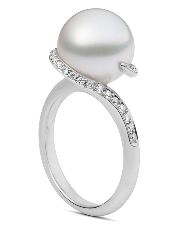 Mikimoto Pearl, Unique Engagement Ring, Pearl Ring, Zadok