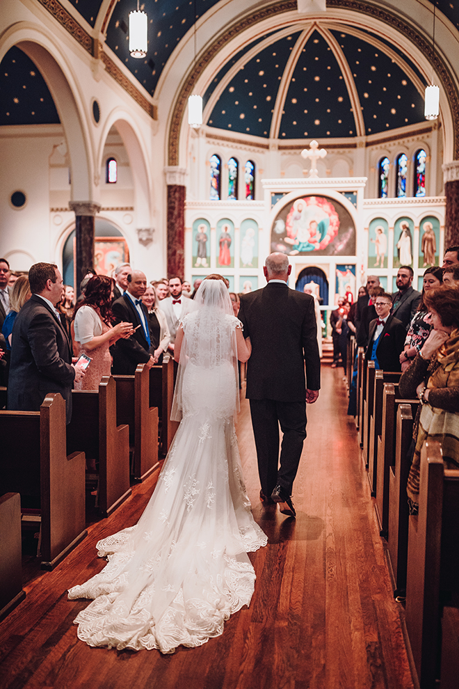 Real Wedding, Houston Couple, Newlywed, The Astorian, Ama by Aisha, Winter Wedding, Red Wedding, Marine, Military, Cordua Catering, Cakes By Gina, Catholic Church, Church Ceremony, Wedding Ceremony