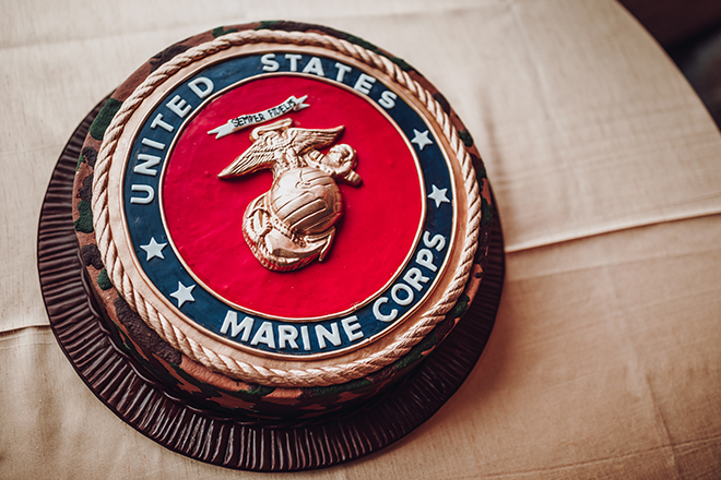 Real Wedding, Houston Couple, Newlywed, The Astorian, Ama by Aisha, Winter Wedding, Red Wedding, Marine, Military, Cordua Catering, Cakes By Gina