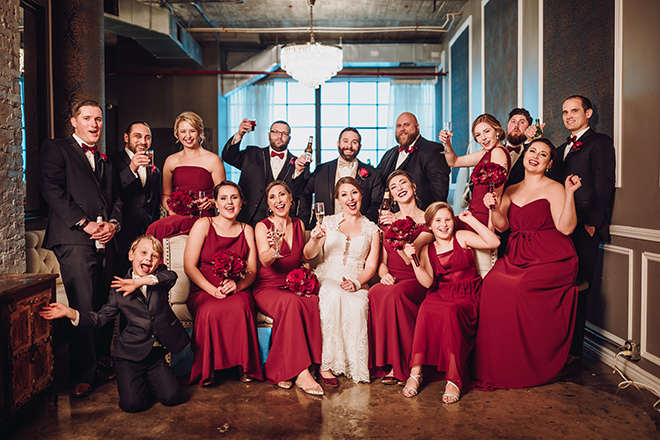 Real Wedding, Houston Couple, Newlywed, The Astorian, Ama by Aisha, Winter Wedding, Red Wedding, Marine, Military, Cordua Catering, Cakes By Gina, Bridal Party