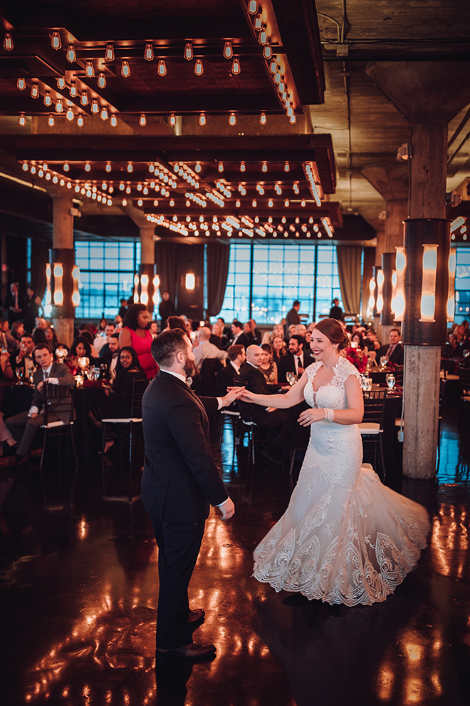 Real Wedding, Houston Couple, Newlywed, The Astorian, Ama by Aisha, Winter Wedding, Red Wedding, Marine, Military, Cordua Catering, Cakes By Gina, First Dance