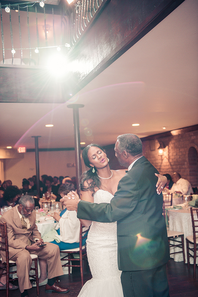 Houston, Real Wedding, Newlywed, Black Couple, The Breakfast Klub, The Gallery, Outdoor Wedding Ceremony, Mint, Orange, and Pink, Gray Suits Jumping the Broom, KC Events & Florals, Cafe Natalie, Any Occasion Rentals, Father Daughter Dance