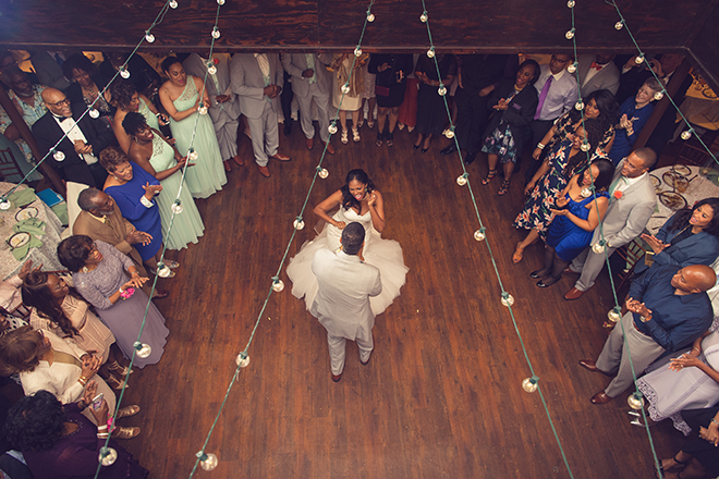 Houston, Real Wedding, Newlywed, Black Couple, The Breakfast Klub, The Gallery, Outdoor Wedding Ceremony, Mint, Orange, and Pink, Gray Suits Jumping the Broom, KC Events & Florals, Cafe Natalie, Any Occasion Rentals, First Dance