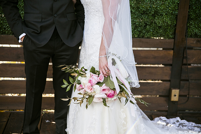 Houston, Real Wedding, Newlywed, Hughes Manor, Outdoor and Indoor Venue, Winter Wedding, Pink, Gold, White, Young Couple, Meeker Pictures, Hughes Manor, Cakes by Gina, Cordua Catering, Winnie Couture, Bella Bridesmaids, Bouquet