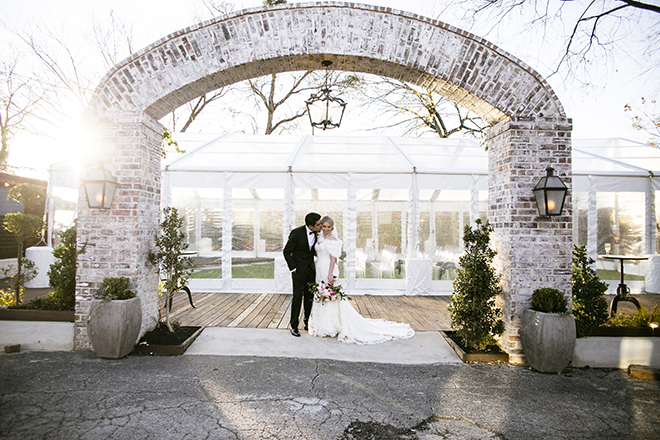 Houston, Real Wedding, Newlywed, Hughes Manor, Outdoor and Indoor Venue, Winter Wedding, Pink, Gold, White, Young Couple, Meeker Pictures, Hughes Manor, Cakes by Gina, Cordua Catering, Winnie Couture, Bella Bridesmaids, Hughes Manor Exterior, Entrance