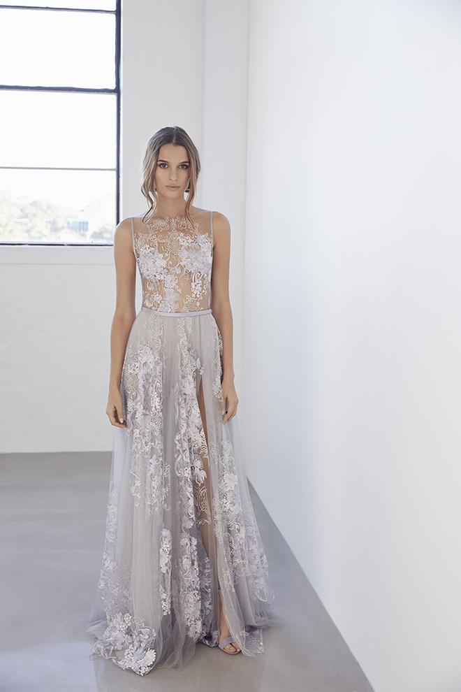 Wedding Dress, Designer Gown, Non-White Dress, Bridal Fashion, Purple Wedding Gown, Suzanne Harward, Deisgner Dress, Alternative to White Dress
