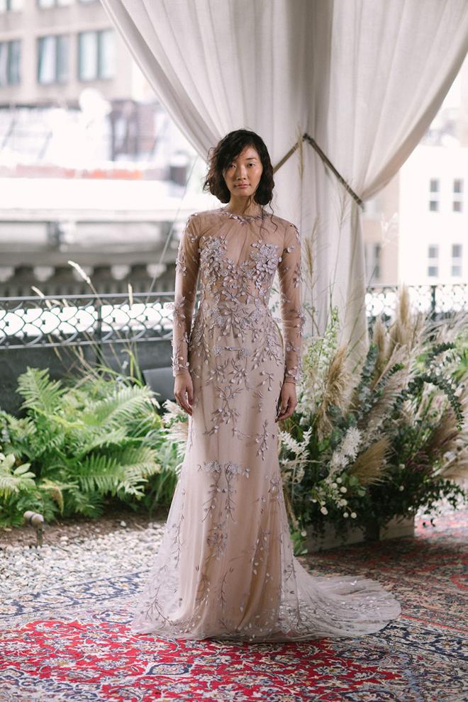 Wedding Dress, Non-White, Alexandrea Grecco, Lavender, Purple Wedding Dress, Designer Wedding Dress