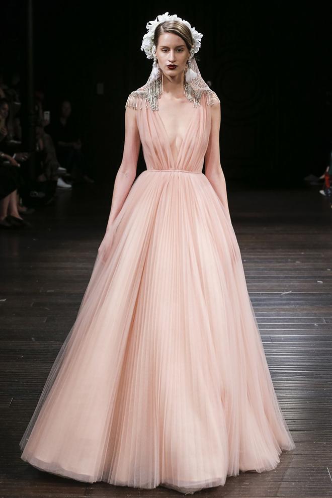 Wedding Dress, Non-White, Blush, Designer Gown, Joan Pillow Bridal Salon