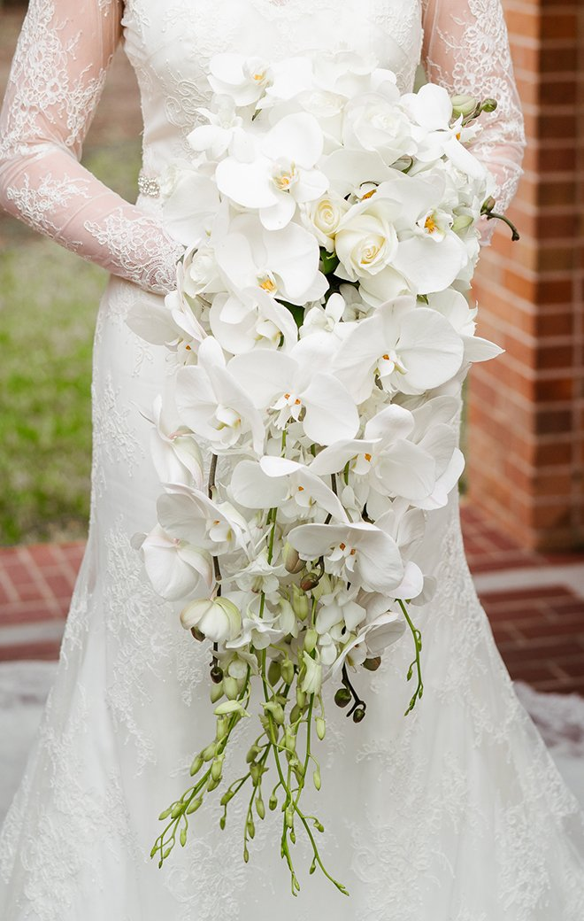 Wedding Bouquet, Orchids, white, river oaks plant house, bridal bouquets