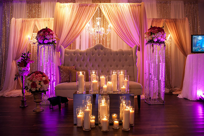 JW Marriott Houston Downtown wedding booking special hotel sophisticated Texas city elegant hotel wedding tablescape decor candles drapes lounge