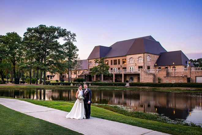 Houston country club wedding Raveneaux golf course