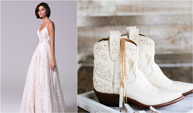 Cowboy Boots, Wedding Style, Miron Crosby, Michal Medina, Now & Forever Bridal Boutique, Texas, Country, boho