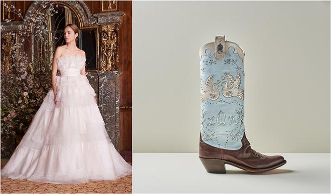 Wedding Style: Bridal Cowboy Boots + Gowns - Houston Wedding Blog