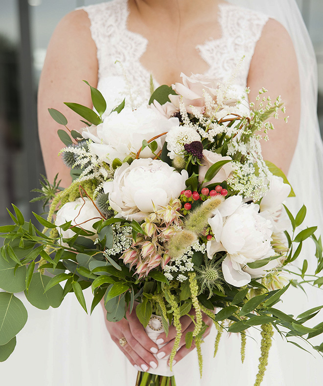wedding bouquet, white peonies, bridal bouquets