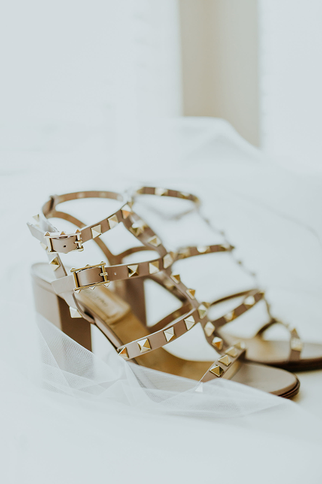 real wedding houston wedding the woodlands resort & conference center bridal shoes studded block heels wedding attire for the bride