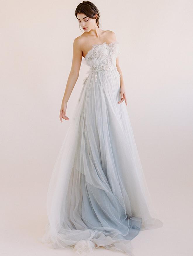 Bridal Fashion, Non-White Dress, Blue Wedding Gown, Samuelle Couture, Deisgner Dress, Alternative to White Dress