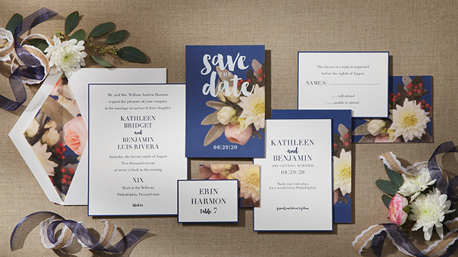custom wedding invitations blue and white wedding invitation suite wedding stationery William Arthur Studio Bering's