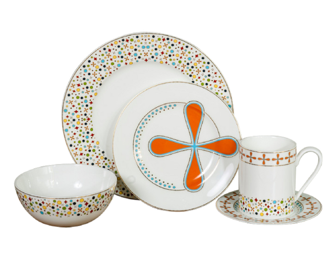 Natalie Annette Jubilee Collection Midcentury Tableware Place Setting Gift Registry