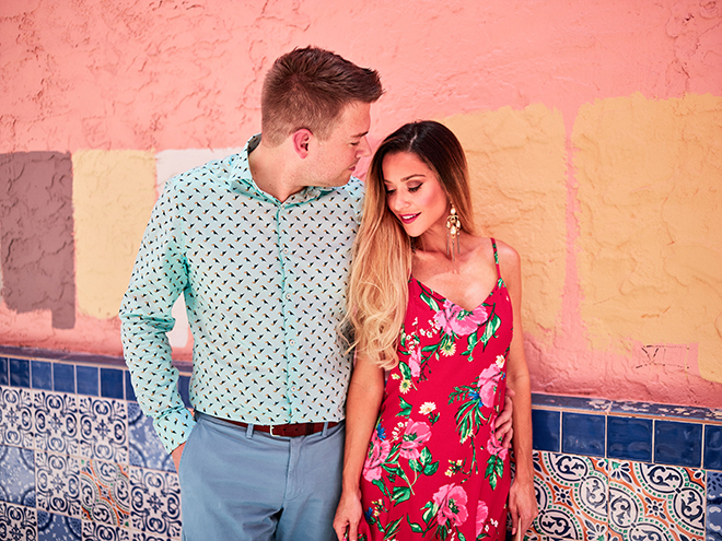 bright and bold, miami summer engagement shoot, miami, civic photos, houston photographer