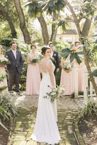 Vintage Butler's Courtyard Wedding With Haute Flowers