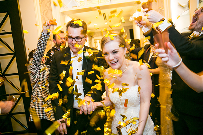 california texas wedding, wedding photography, couple exit, confetti shower, bride and groom
