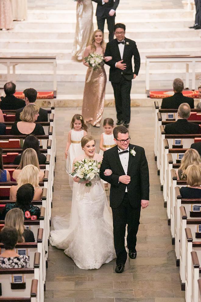 california texas wedding, bride and groom in church sanctuary, church wedding ceremony, wedding photography