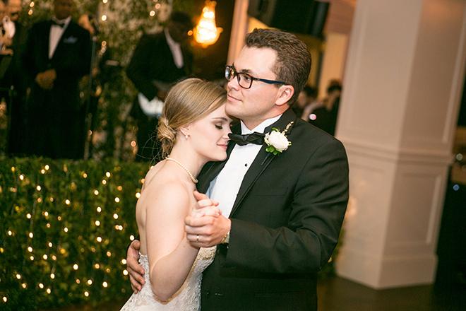 california texas wedding, wedding reception, first dance, dance floor, bride and groom