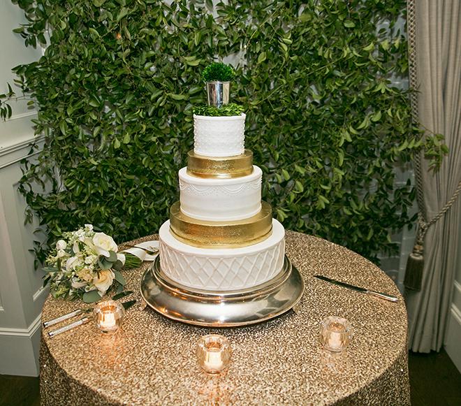 california texas wedding, wedding reception, custom wedding cake, white and gold wedding cake, five-tiered cake