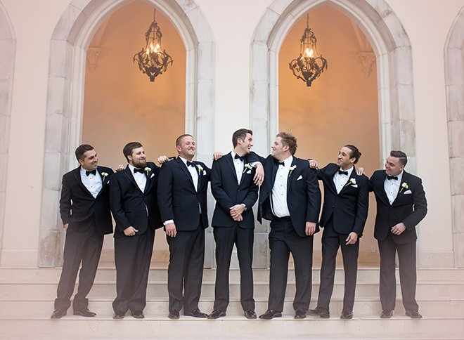 houston wedding, wedding party, groom, groomsmen, black tuxedos, men's formawear, wedding photography, luxe chateau cocomar wedding